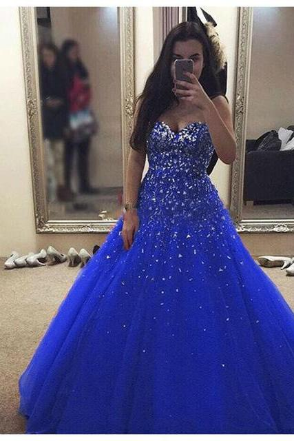 2017 Prom Dresses,Beautiful Prom Dresses,New Arrival Ball Gown Evening Dress,Open Back Tulle Evening Dress,Sexy Prom Dresses,Formal Gowns