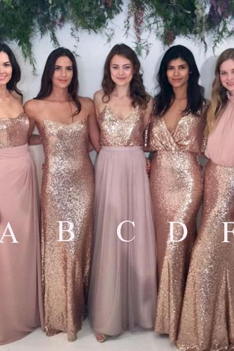 Sexy Kinds of Bridesmaid Dress, Long Wedding Party Dress
