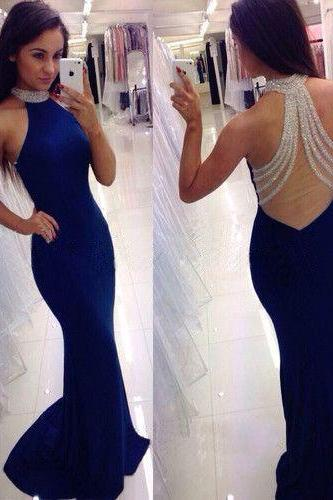 Royal Blue Prom Dresses,Mermaid Prom Dress,Sexy Prom Dresses,Mermaid Evening Dresses,Chiffon Prom Dresses,Evening Dress,Long Prom Dress,Women Dresses,Formal Party Dresses