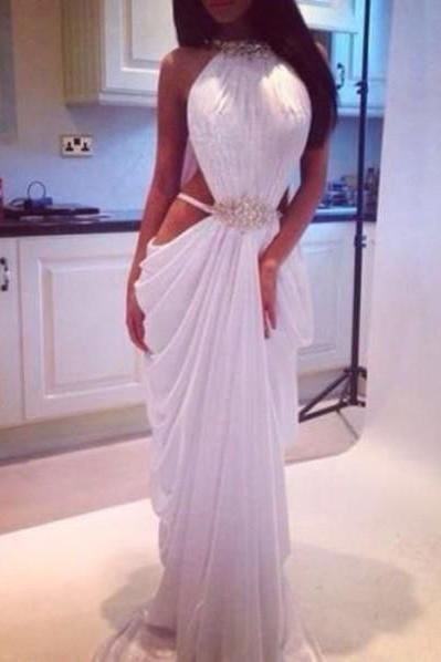 White Ivory Prom Dress,Mermaid Prom Dress,Simple Prom Gown,Sex Prom Dresses,Sexy Evening dresses,sexy prom dresses for teens,sexy prom dresses long,Chiffon Prom Dresses